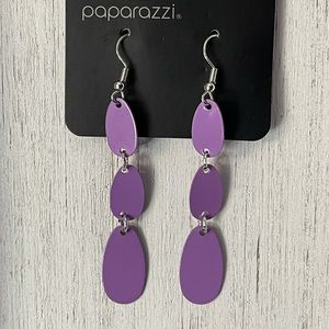 COPY - Purple Fishhook Earrings